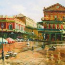 St Louis Square Retro New Orleans Art Print Matted Print Baltas