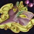 Purple Venetian Mask New Orleans Beads Carnival Party Bourbon Street Bead
