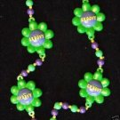 Groovy Hippy Mardi Gras Bead Necklace Your Choice Color New Orleans Beads