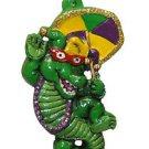 Party Gator Second Line Mardi Gras Bead Necklace Spring Break Cajun Carnival