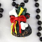 Voodoo Gris Gris Ju Ju Bag Mardi Gras Bead Necklace Bourbon Street New Orleans