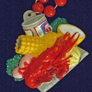Crawfish Boil Bead Necklace YOUR CHOICE New Orleans Beads Cajun Seafood Creole
