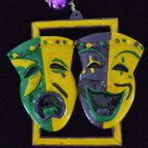 COMEDY TRAGEDY MASKS New Orleans Party Mardi Gras Beads