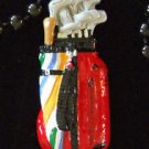 GOLF Bag Golfing Golfer Mardi Gras Beads New Orleans