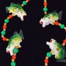 Bass Fish Trophy Mardi Gras Bead Necklace YOUR CHOICE Color New Orleans Beads