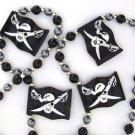 Black Pirate Flag Mardi Gras Bead Necklace Spring Break Cajun Carnival Festival