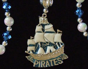 Pirate Ship Medallion Metal Mardi Gras Beads New Orleans Party Carnival Party