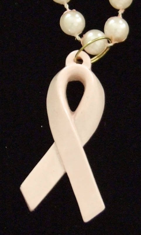 CANCER AWARENESS Pink Ribbon Necklace Fund Raise Party