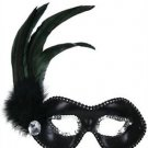 Feather Mask White Jewel YOUR COLOR CHOICE Mardi Gras New Orleans Halloween Prom