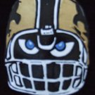 Fear The Black & Gold Fleu de Lis Bead Necklace New Orleans Football Beads