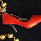RED SLIPPER Slippers RUBY HIGH HEELS Mardi Gras Bead