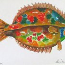 Flounder New Orleans Tan Matte Print Artist Signed