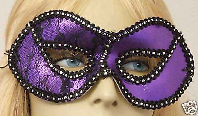 Purple With Lace Halloween Ball Play Party Mask