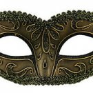 Bronze Venetian Eye Mask Mardi Gras Halloween Costume Masquerade Prom Party