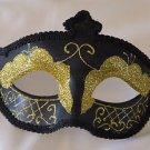 Venetian Eye Mask Black Braid Mardi Gras Halloween Costume Costume Party