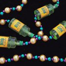 Gin Bottle Mardi Gras Bead Necklace New Orleans Liquor Classic Parade