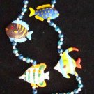 Tropical Fish Colors Mardi Gras Beads New Orleans Fun