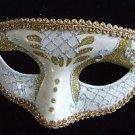 Venetian Mask Silver & Gold Mardi Gras New Orleans Halloween Masquerade Costume