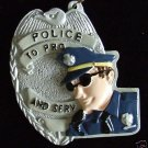 Police Protect and Serve Badge Mardi Gras Beads Cops