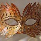 Venetian Mask Star Burst Orange Prom Mardi Gras Masquerade Costume Party
