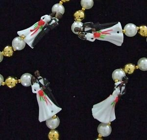 African American Wedding Mardi Gras Bead Necklace YOUR CHOICE COLOR Party