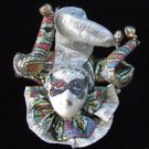 Porcelain Jester Lady Tri Hat Ornament YOUR CHOICE STYLE Mardi Gras Orleans