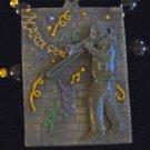 Jazz Player New Orleans Mardi Gras Beads Confetti Tile