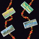 WOODEN BLOCKS New Orleans Scenes Mardi Gras Party Beads