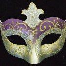 Venetian Halloween Party Eye Mask Samba Purple Silver