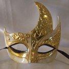 Venetian Mask Ivory Gold Medici Flame Mardi Gras Men Masquerade Costume Prom