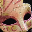 Venetian Masquerade Ball Party Mask PRETTY IN PINK Mardi Gras Prom Party