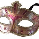 Venetian Eye Mask Purple & Silver Costume Prom Party Mardi Gras New Orleans