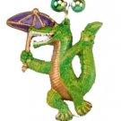 Alligator Second Line Mardi Gras Bead Necklace Spring Break Cajun Carnival