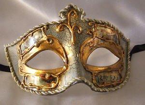 Venetian Eye Mask White Music Costume Prom Party Mardi Gras Masquerade Costume