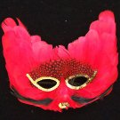 Fire Cat Feather Masquerade Party Mask Mardi Gras Red Masquerade Prom Party
