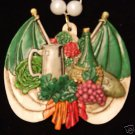 Italian Feast Mardi Gras Bead Wine Flag Food Italy