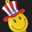 Uncle Sam Smiley Necklace Mardi Gras Beads Go Vote!