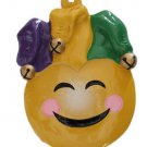 Smiley Face Jester Mardi Gras Bead Necklace Bourbon Street New Orleans