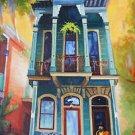 New Orleans Shotgun Serenade House Baltas Giclee Canvas New Orleans Art Print