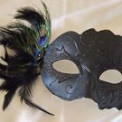 Venetian Mask Black Leaf People Mardi Gras Halloween Costume Costume Party
