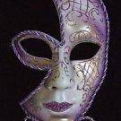 Venetian Half Face Scroll Stick Mask Your Color Choice  Mardi Gras Costume Prom