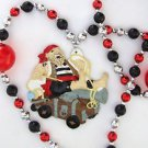 Pirate Cannon and Bombs Mardi Gras Bead Necklace Cajun Carnival New Orleans