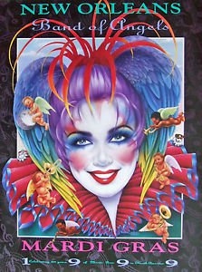 Andrea Mistretta Mardi Gras Art Print 1999 Band of Angels New Orleans Famous