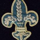 Zardozi Fleur de Lis or Crown Ornament YOUR CHOICE Mardi Gras New Orleans