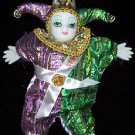Porcelain Baby Clown Doll Mardi Gras PGG Bright New Orleans