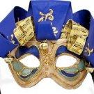 Jolly Jester Venetian Mask YOUR CHOICE COLORS Mardi Gras Halloween Parade