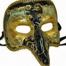 Venetian Mask Pulcinella Nose Crack Antique YOUR CHOICE COLOR Mardi Gras
