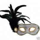 SILVER JEWEL MASQUERADE Ball HALLOWEEN Mask Costume