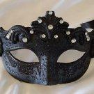 Venetian Eye Mask Black With Jewel Mardi Gras Halloween Costume Costume Party