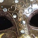 CRESCENT Venetian Mardi Gras Mask CHOCOLATE Party Mardi Gras Prom Party Costume